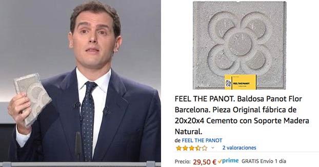 El adoquín que sacó Albert Rivera en el debate de RTVE se puede comprar en Amazon por 30 euros