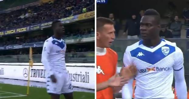 Los cánticos racistas en Verona hacen estallar a Balotelli en pleno partido