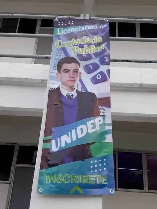Una universidad de México usa como reclamo al actor de cine para adultos Jordi ENP en un cartel