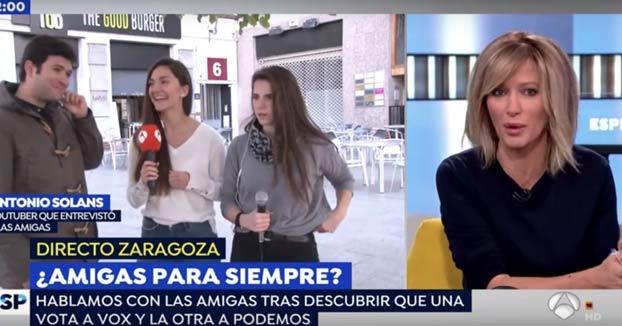 En Espejo Público han buscado a Lucía (del vídeo ''Hostia Lucía'') para preguntarle por qué va a votar a Vox