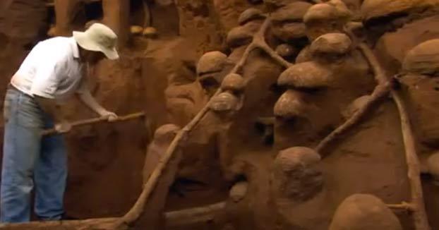 Excavando un hormiguero gigante