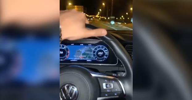 Detenido tras grabarse circulando a 202 km/h un tramo de 80 en Marbella