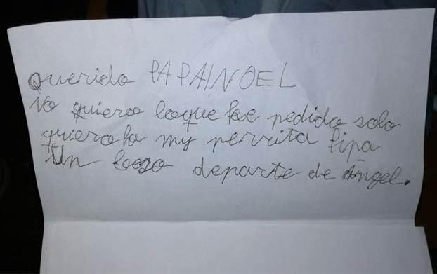La conmovedora carta a Papá Noel de un niño de siete años tras perder a su perrita: ''Solo quiero a Pipa''