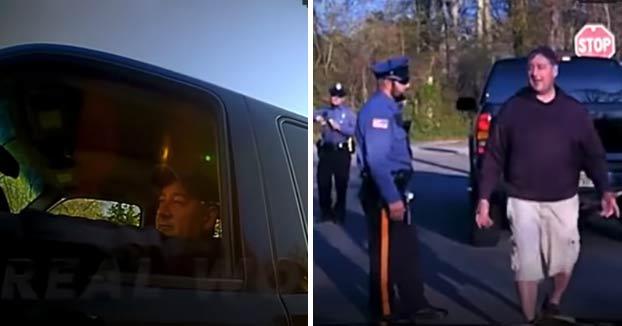 Unos policías detienen a su superior por conducir borracho