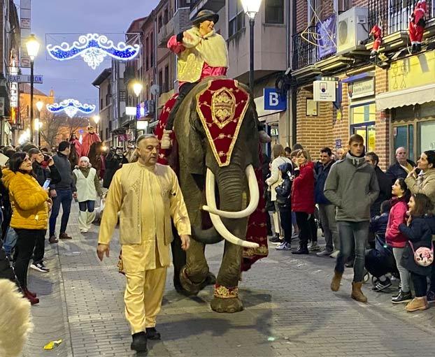 El alcalde de Medina del Campo recibe un 'trompazo' de un elefante en la cabalgata de Reyes