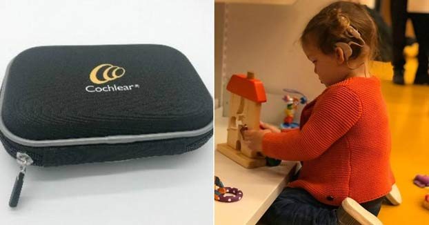 Unos padres buscan desesperadamente los implantes auditivos de su hija de dos años