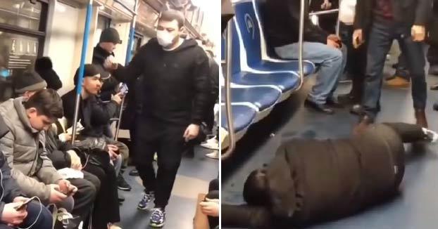 Un youtuber siembra el pánico en el metro de Moscú fingiendo un ataque de coronavirus