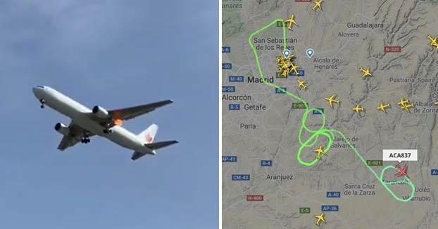 Barajas se prepara para el aterrizaje de emergencia de un avión de Air Canada sin una rueda y con 130 personas a bordo