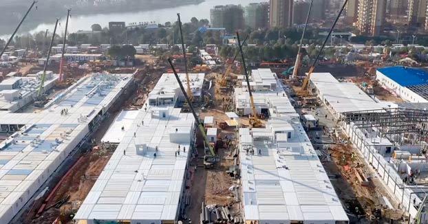 El hospital de Wuhan ya está inaugurado: así ha levantado China un hospital de 25.000 m² en 10 días