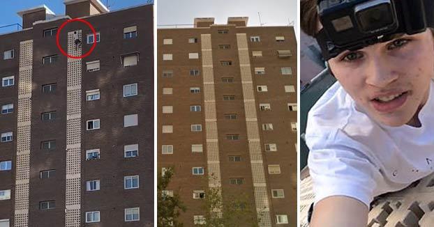 Un instagramer escala la fachada de un edificio de Benidorm para hacerse un selfie arriba de todo