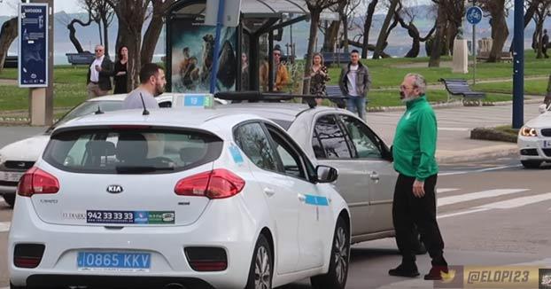 Altercado en una rotonda de Santander entre un taxista y un conductor