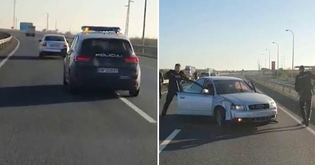 Persecución policial en una carretera de Huelva a un conductor que huyó cuando le dieron el alto