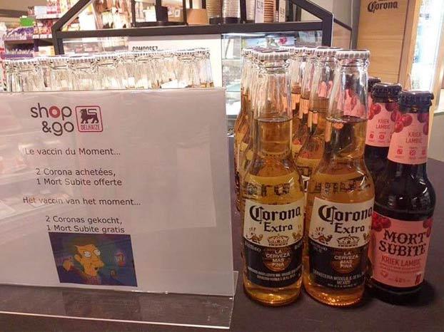 El humor belga en uno de sus supermercados referencia