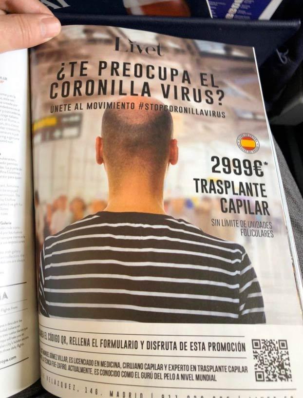 Muy buena jugada de marketing: ''¿Te preocupa el Coronilla-Virus?''