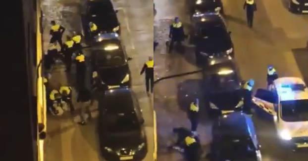 La Policía termina a palos con varias personas que celebraban una fiesta en Zaragoza tras el decreto de alarma