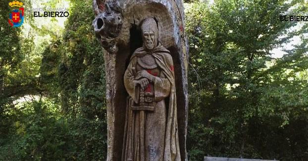 Árboles tallados en El Bierzo