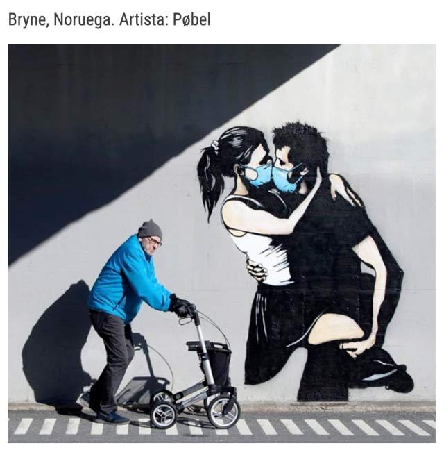 Graffitis sobre el coronavirus alrededor del mundo
