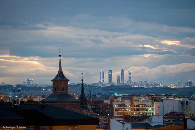 Las Torres de Madrid desde Alcalá de Henares