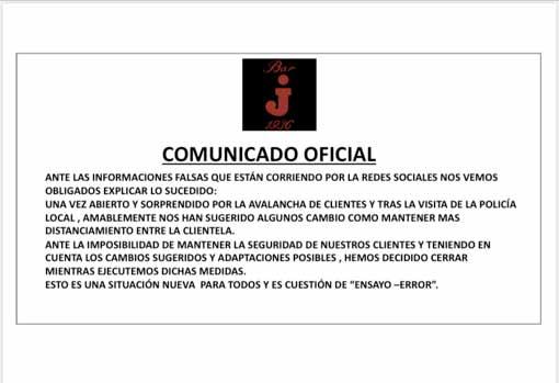 La Policía Local de Sevilla denuncia a diferentes bares por incumplimientos en el primer día de la Fase 1