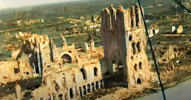 Escenarios de la Primera Guerra Mundial vistos desde el aire