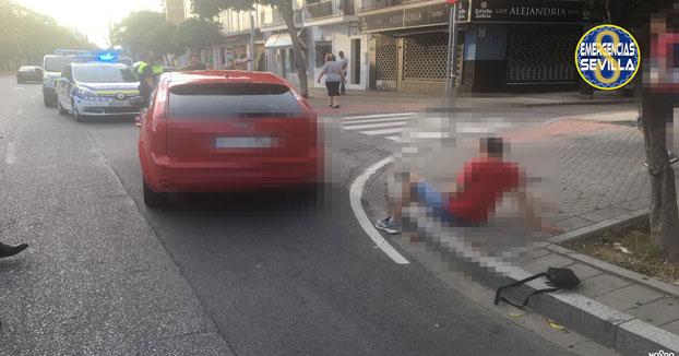Atropellado tras robar a una mujer en la avenida Hytasa de Sevilla