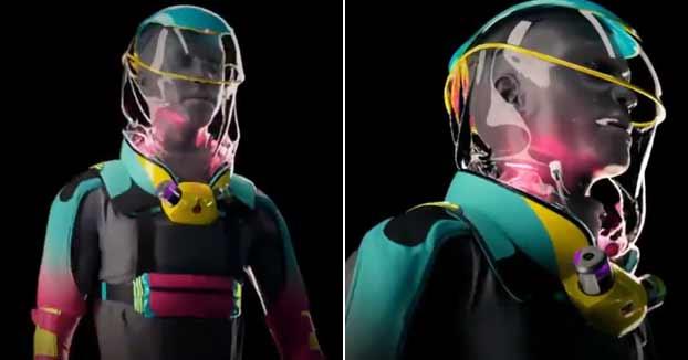 Fabrican un traje con el que poder ir a festivales sin temer contagios