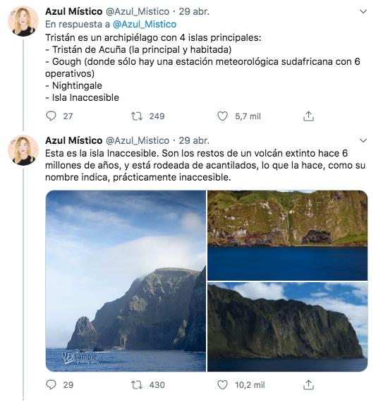 Esto es la isla de Tristán de Acuña, el lugar habitado más remoto del planeta. Una locura de lugar, abro hilo