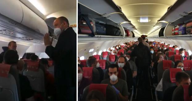 Iberia llena un vuelo Madrid - Gran Canaria sin mantener la distancia entre pasajeros