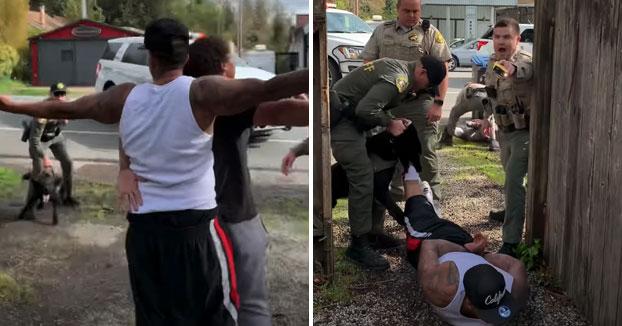 Brutalidad policial explícita: Un perro policía ataca
