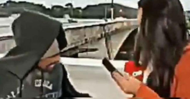 Atracan con un cuchillo a una reportera de la CNN en pleno directo