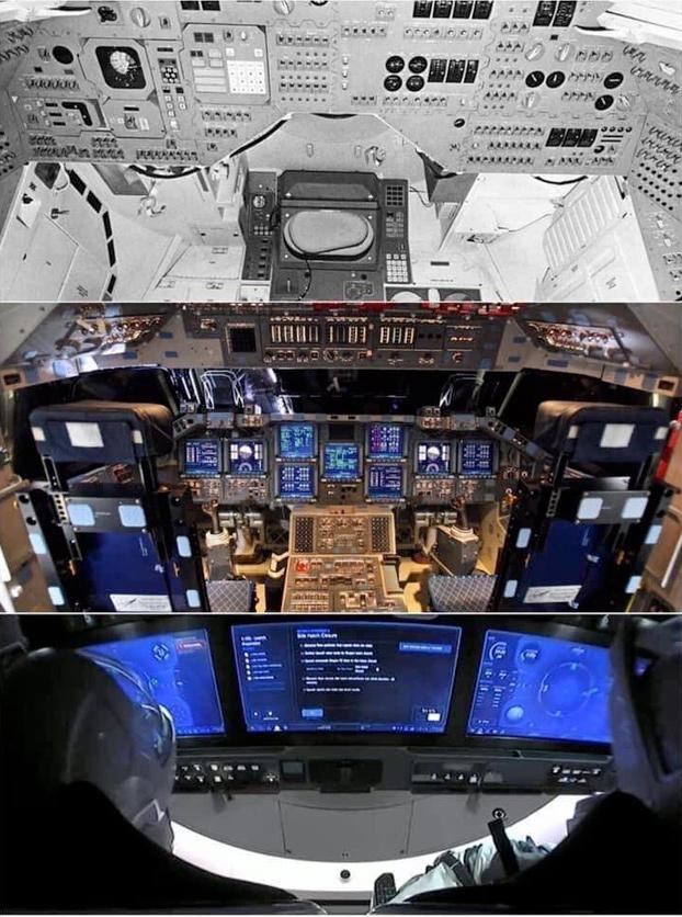 Comparativa de cabinas de naves espaciales, 1967-2020