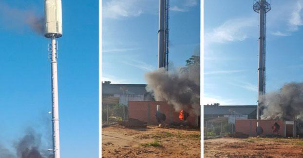 Destrozan en Bolivia torres de telefonía creyendo que el 5G contagia el coronavirus y el Gobierno aclara que aún no cuentan con esta tecnología