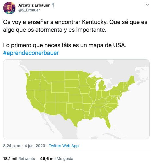 Una gran lección de geografía que nunca olvidarás: Dónde está Kentucky