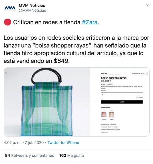 Cachondeo por el bolso ''shopper'' de Zara por su similitud a un bolso de mercado