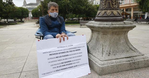 Un lucense inicia una huelga de hambre porque sus vecinos no le dejan dormir