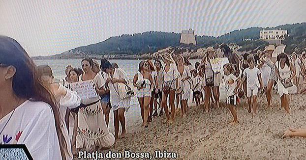 Manifestación en Ibiza en contra del uso obligatorio de las mascarillas