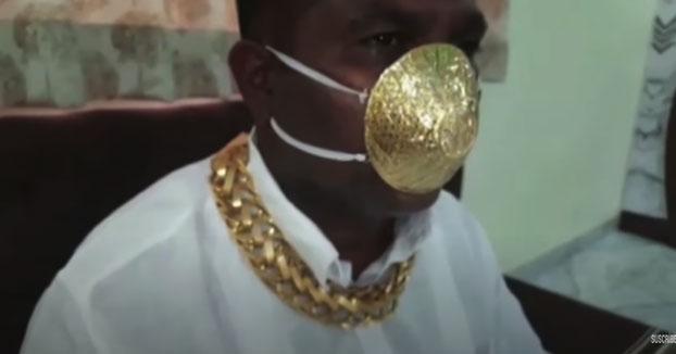 Unos 4.000 euros por una mascarilla de oro