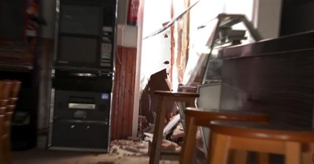 Piscina mal montada cae sobre un bar en Tarrasa
