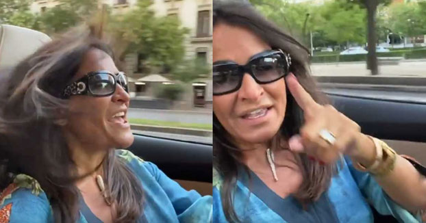 La Policía investiga un vídeo de Aída Nízar conduciendo por Madrid mientras se graba con el móvil