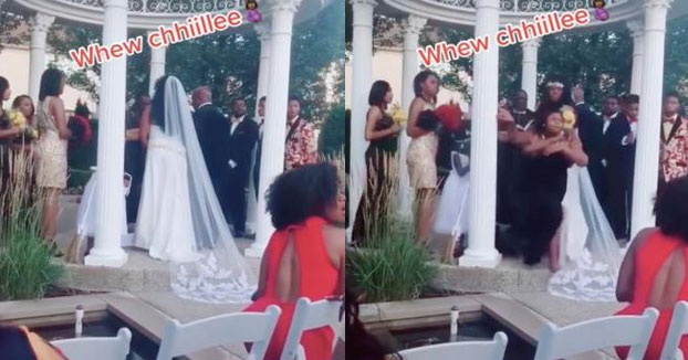 Una mujer embarazada irrumpe en la boda de su amante al grito de ''¡Aquí está tu bebé!''