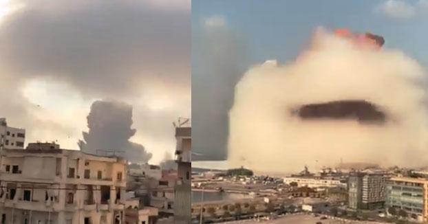 Se registra una fuerte explosión en Beirut, Libano. El momento desde diferentes puntos