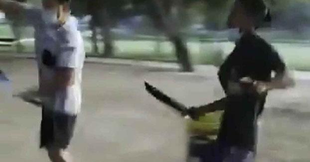 Dos bandas se pelean con machetes en un parque de Zaragoza capital