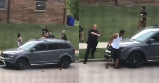 Brutalidad policial: le disparan por la espalda cuando iba a montarse en el coche con sus tres hijos en el interior