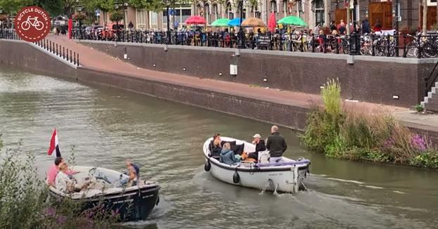 Así es cómo una carretera se convirtió en un canal en la ciudad de Utrecht