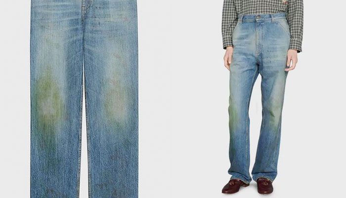 Gucci vende unos pantalones con manchas falsas de hierba en las rodillas por 650 euros