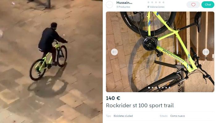 Hussain pone a la venta la bicicleta que robó en un Decathlon durante los disturbios de Barcelona