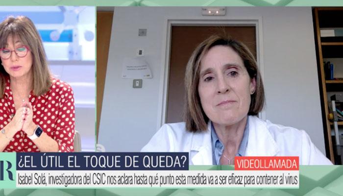"""La investigadora Isabel Solá pide hacer las cenas de Navidad por videollamada porque presenciales son """"un peligro"""""""