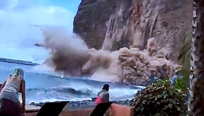 Derrumbe en un acantilado en La Gomera: se busca a posibles víctimas bajo las rocas