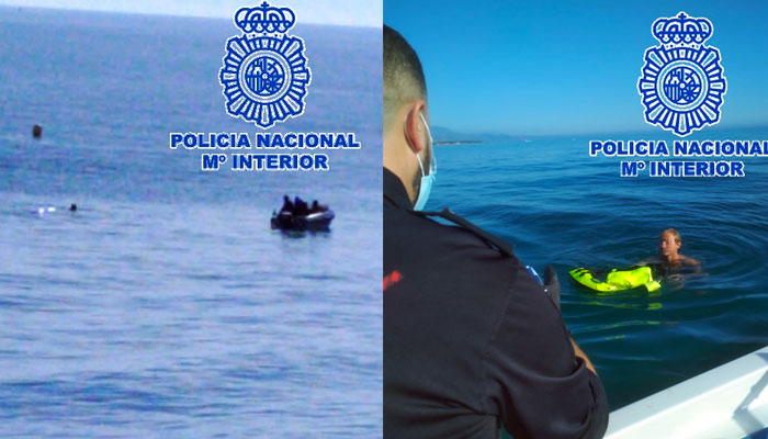 Intentó agredir a una mujer en una playa de Málaga y para evitar su arresto se adentró en el mar y permaneció dos horas junto a una boya