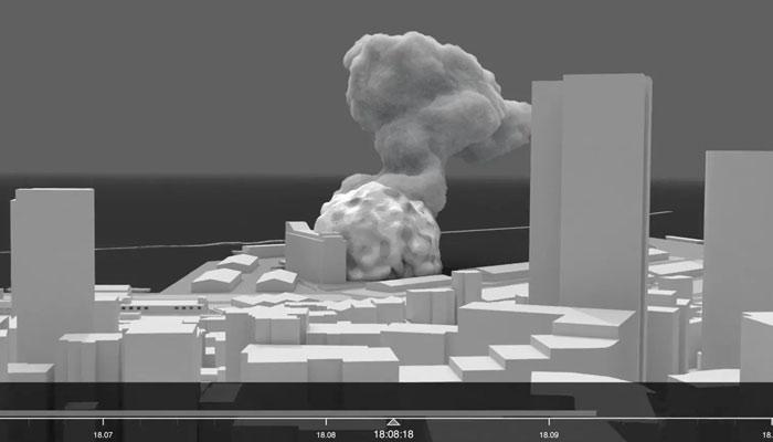 La explosión de Beirut explicada en una reconstrucción 3D